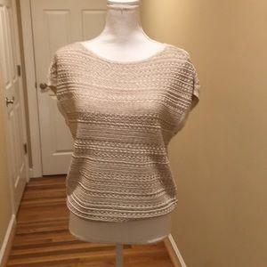 White House Black Market Open Stitch Sweater NEW